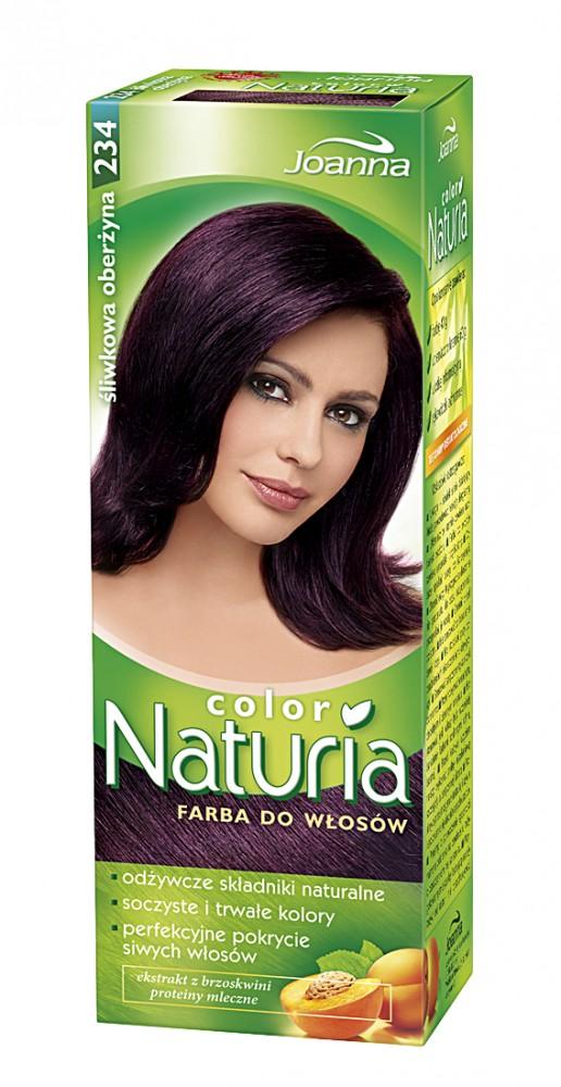naturia haarfarbe pflaumige aubergine 234 100g von joanna polnische kosmetik. Black Bedroom Furniture Sets. Home Design Ideas